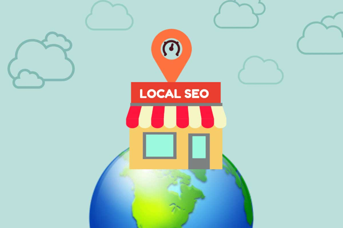 building local SEO is more than just words and Key phrases.  This shows local SEO on a globe.