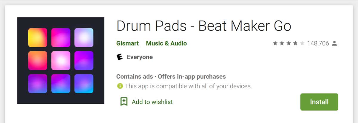 Drum pads-Beat maker Go