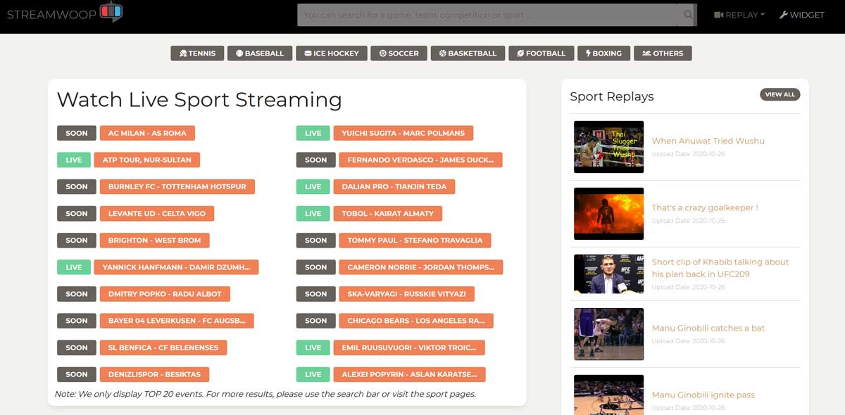 10 Best Sports Streaming Sites To Watch Sports Online For Free Sfuncube