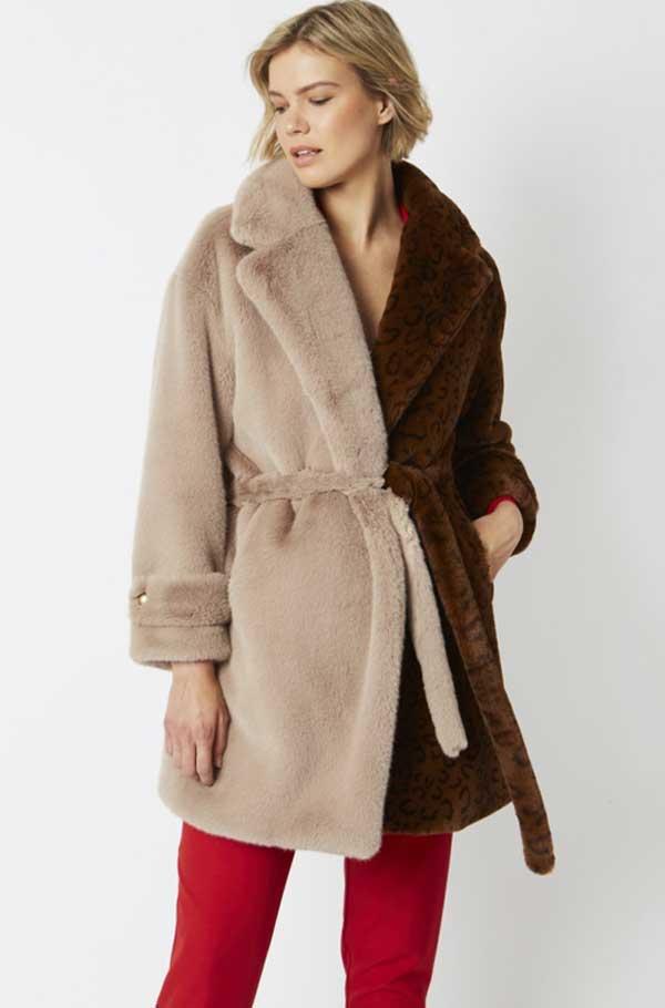 Classic faux fur coat