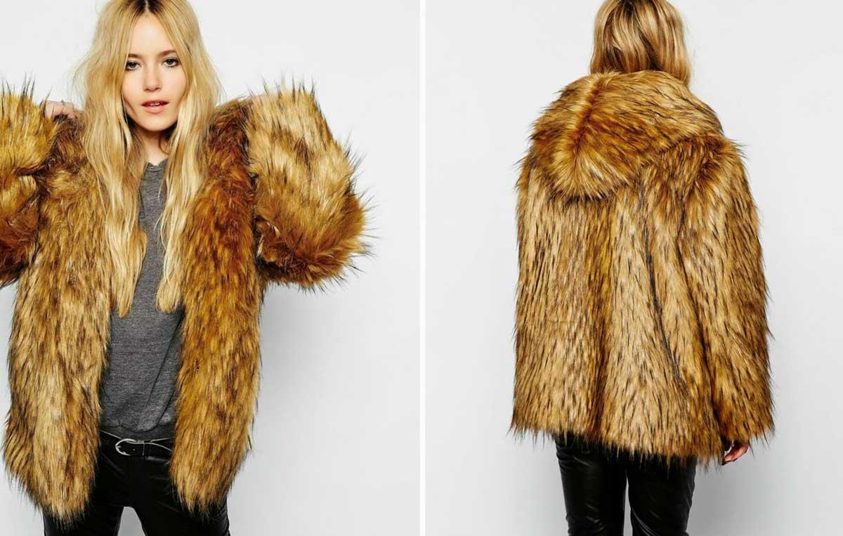 Hooded-faux-fur-coat