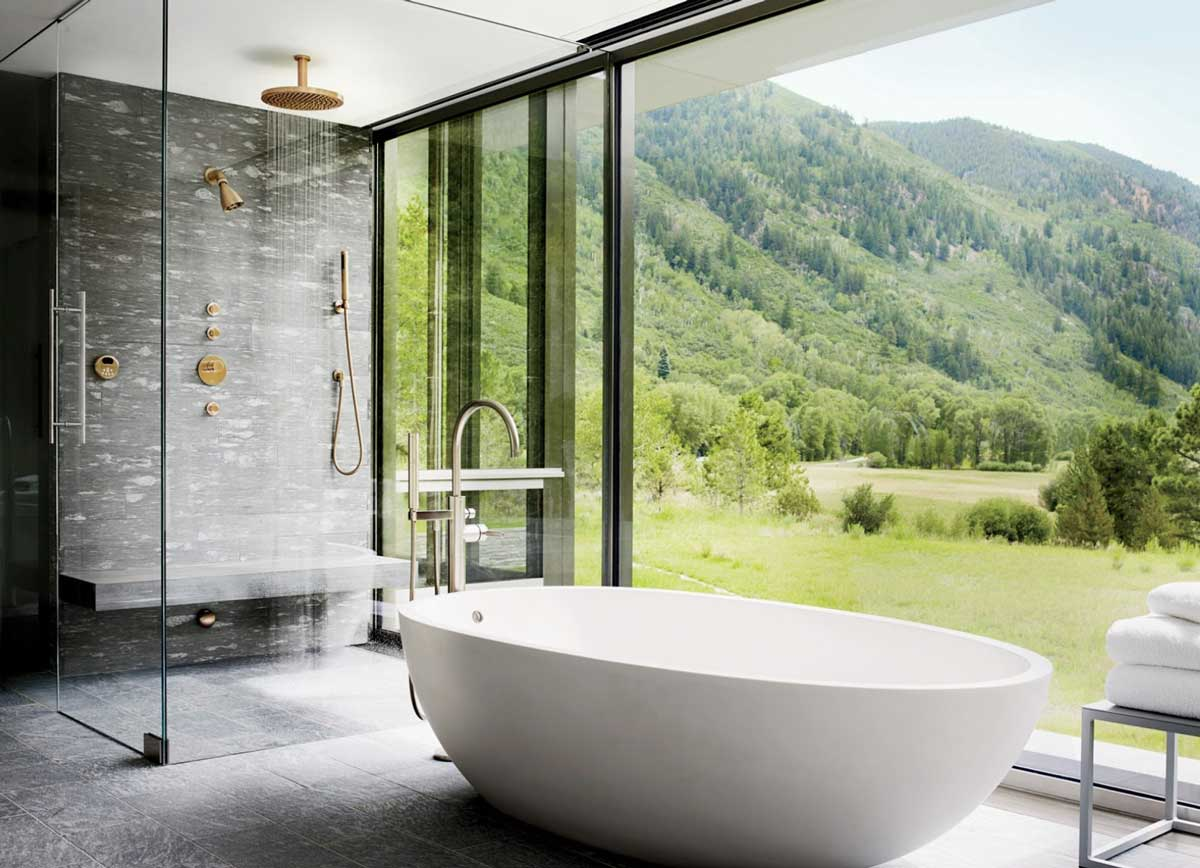 Bathtubs nowadays come in all shapes and sizes