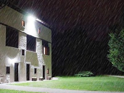 exterior lighting with LED flood lights